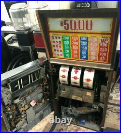Vintage 1978 BALLY 5 Cent Nickel Slot Machine Model 1091