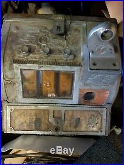 Vintage 5 Cent Slot Machine Used