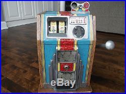 Vintage 5 cent Burtmier Pony slot machine