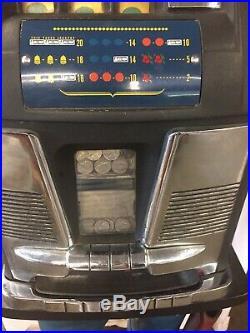 Vintage American One Arm Black Jack 5cent Slot Machine