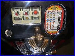 Vintage Antique 1940's 1950's Jennings Indian Head 50cent Slot Machine