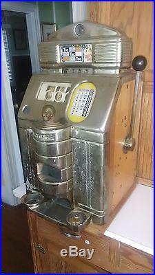 Vintage Antique 1940s/1950s Jennings Chief Indian Head 6 Pence Slot Machine