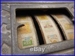 Vintage Antique Art Deco 1930s Cent-A-Pack Cigarette Slot Machine by Buckley MFG