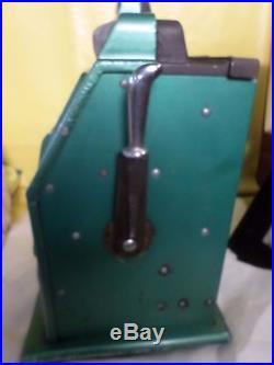 Vintage Antique Buckley 1940's $. 25 Slot Machine Bars Bells Gum Mills 1910 Reels