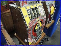 Vintage Antique Mills War Eagle Slot Machine with Mint Vendor Very Nice Working