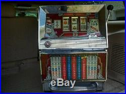 Vintage BALLY 5 Cent Nickel Slot Machine partially works selling as is
