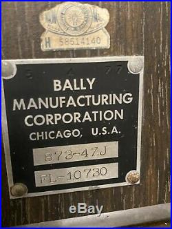 Vintage Bally 873 Slot Machine Beautiful Condition
