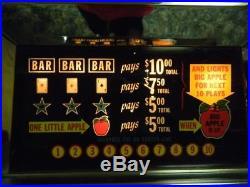 Vintage Bally Big Apple 5-Cent Slot Machine $500