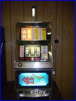 Vintage Bally Silver Bird Hotel and Casino 10-Cent Slot Machine $900