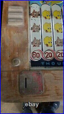 Vintage Bally's Big Top 5 Cent Slot Machine Trade Stimulator 3 Reel
