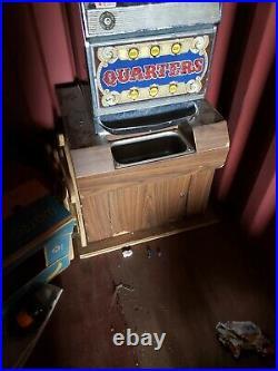 Vintage Ballys slot Machine One Arm 25 cent Quarter