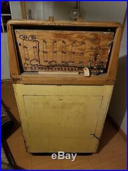 Vintage Coin Op Keeney Bonus Super Bell Nickel Slot Machine Antique
