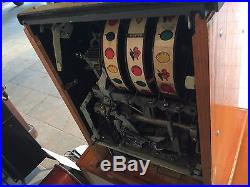 Vintage Five Cents 5 Cent Mills Diamond Front Slot Machine Restored Tested Works