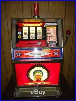 Vintage Jennings 25-Cent Slot Machine $900