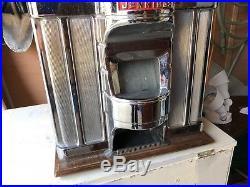 Vintage Jennings Sun Chief 10 Cent Tic Tac Toe Slot Machine 1940's. Look