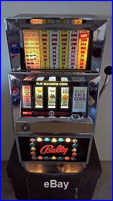Vintage Las Vegas Slot Machine, 25-cent, 3-reel, fruit, circa 1967