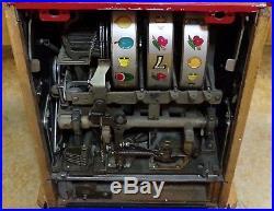 Vintage MILLS Blue Bell 5 Cent Hi Top Slot Machine Bar Top Man Cave NR