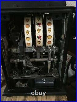 Vintage Mills 10 Cent BLACK CHERRY BELL Mechanical Slot Machine 1946 (WORKING)