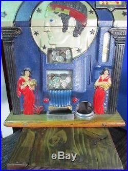 Vintage Mills 10 Cent Roman Head Slot Machine