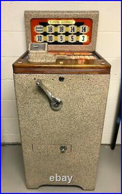 Vintage Mills 1940 Jumbo Parade 5 cent Slot Machine $400 (Aurora)