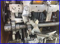 Vintage Mills 25 Cent Bell Fruit Gum Slot Machine One Arm Bandit Original