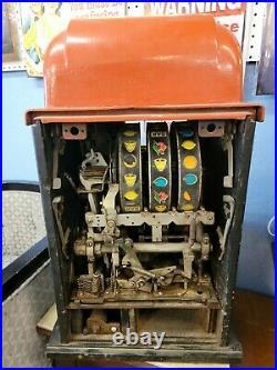 Vintage Mills 5 Cent Nickel High Top Striped Slot Machine