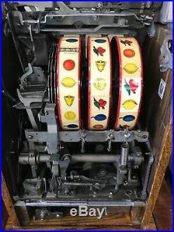 Vintage Mills 50c Roman Head Slot Machine, Recently Serviced