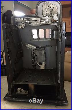 Vintage Mills Black Cherry 25 Cent Slot Machine