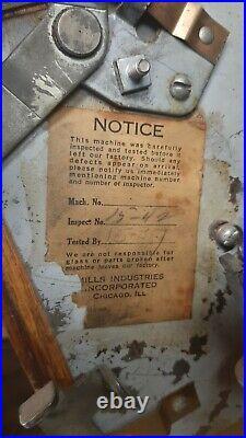 Vintage Mills Blue-BELL 5 Cent Slot Machine