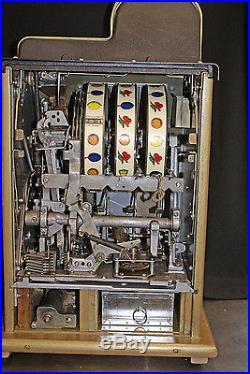 Vintage Mills Golden Falls nickel slot machine- restored from top to bottom