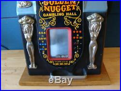 Vintage Mills Golden Nugget Gambling Hall 10 Cent Dime Slot Machine