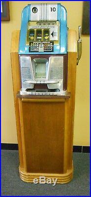 Vintage Mills High Top 10 Cent Slot Original Mills Regal Floor Cabinet