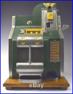 Vintage Mills Novelty Co. 5 Cent Nickel Slot Machine JUST SERVICED w FREE SHIP