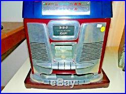 Vintage Mills Slot Machine 7-7-7.25 Cent