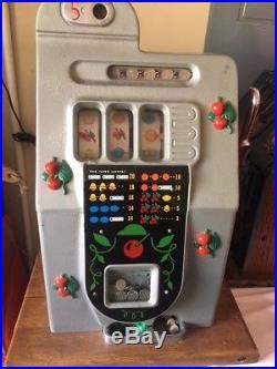 Vintage Mills Wild Black Cherry Antique Slot Machine 5 Cent free pickup