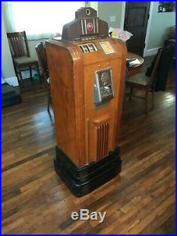 Vintage Old Rare Jennings Chief Club Console Dime Slot Machine Rod Shop