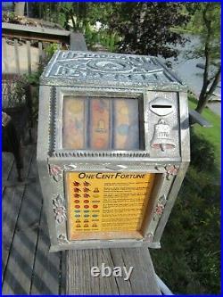 Vintage Original 1929 Puritan Baby Bell Fortune Machine Reliable Coin Machine Ex