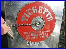 Vintage Original 1935 Mills Tickette Trade Stimulator Card Punch Game Works Good