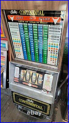 Vintage Original Las Vegas Slot Machine Bally Continental Coin Operated