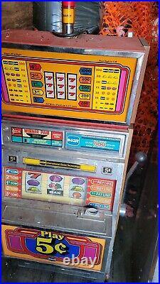 Vintage Original Las Vegas Slot Machine Coin Operated