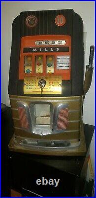 Vintage Original Mills 10¢ Slot Machine Working
