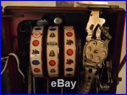 Vintage Pace Mechanical Harrahs 5-Cent Slot Machine $900