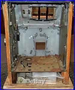 Vintage Rare NEVADA CLUB Mills Nickel Slot Machine (Empty Case Only, WithKeys)