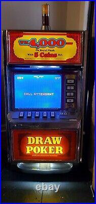 Vintage SLOT Machine $. 25 CENT Video poker 1984 IGT