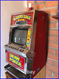Vintage SLOT Machine Reno Nevada Gambling 1980's POKER model 1070C IGT with key