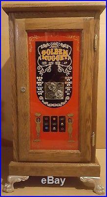 Vintage Slot Machine Cabinet Stand Golden Nugget