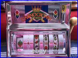 Vintage Waco Casino Crown Novelty Slot Machine 25 Cent Coin. Works Great