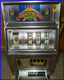 Vintage Waco Casino Crown Slot Machine 16 Works! Antique