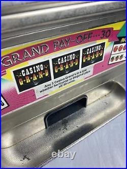 Vintage Waco Casino Grand Large Toy Slot Machine Bank Japan 25 Cent 20 Tall