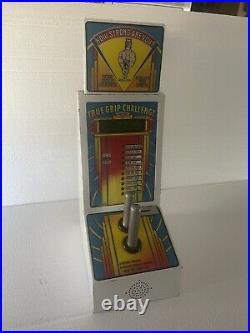 Vintage coin operated TRUE GRIP CHALLANGE MACHINE